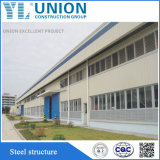 Große Überspannungs-vorfabriziertes Stahlkonstruktion-Rahmen-Grün-Metallgebäude