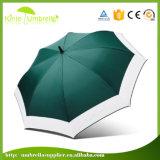 손잡이 백색 알루미늄 프레임 소형 골프 우산에 단추를 여십시오
