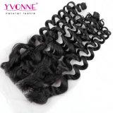 Yvonne Virgem por grosso de fecho superior de cabelo brasileira livre Cabelos encaracolados italiano de separação