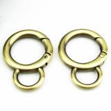 Hot Sale en alliage de zinc cercle en forme de mousqueton pour sac de Collier pour chien en laisse les clips (BL0844)