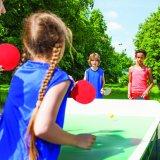 4-плеер таблица теннисную ракетку и шаровой шарнир с помощью нейлоновая сумка для переноски