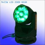 LED 세척 급상승 9PCS 15W RGBW 이동하는 맨 위 광속 빛