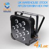 Indicatore luminoso piano senza fili BRITANNICO esente da imposte di PARITÀ del magazzino 12*15W 5in1 Rgbaw LED