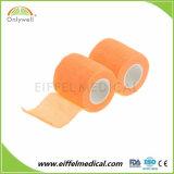 Qualité Premium coloré Non-Woven auto collante Cohesive Bandage élastique