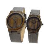 Ontwerp het Houten Horloge 2018 van het Bamboe van de Douane van Uw Eigen Waterdichte OEM van het Staal van het Kwarts Goedkope Minnaars
