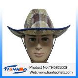 Sombrero de papel de los hombres del vaquero de la paja