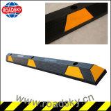 Hoher reflektierender schwarzer u. gelber Gummiauto-Parken-Rad-Anschlag