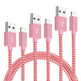 8 clavijas original trenzado Nylon relámpago Cable USB