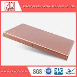 PVDF Non-Combustible ignifugé de panneaux muraux de revêtement en aluminium pour toit couvrant// plafond soffites