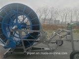 물 터빈과 전자총을%s 가진 호스 권선 물뿌리개 관개 시설