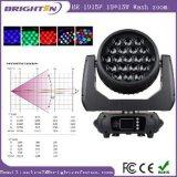 Illuminare l'illuminazione capa mobile della fase dello zoom della lavata di 19*15W 4in1 LED