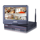4CH Wireless WiFi IP-камера безопасности системы записи CCTV для обеспечения домашней безопасности встроенный 10-дюймовый ЖК-дисплей