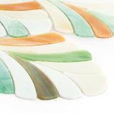 Feuilles de tuile de mosaïque en verre souillé de mur de cuisine de configuration d'art