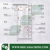 Tipo vertical grande misturador plástico com secador