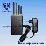 4 jammer portátil do sinal do telefone de pilha da faixa 4W GPS