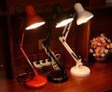 Lâmpada de leitura nova de venda quente da braçadeira dos presentes de feriado, lâmpada de mesa do escritório do braço do balanço, lâmpada de tabela do escritório do metal do clássico chinês