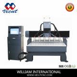 6 Máquina de trabalho de madeira CNC do fuso da máquina de esculpir CNC fresadora CNC (VCT-2013W-6H)