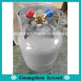 冷却するガスの回復タンクシリンダー12Lをリサイクルする30lb (13.6kg)