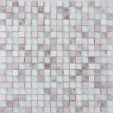 steen van de Verkoop van 300X300mm de Hete Grijze Witte in het Mozaïek van het Glas van de Douches van Tunesië