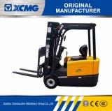 高品質のフォークリフト電池が付いているXCMG 2のトン2000kg 3の車輪ACモーター電気フォークリフト