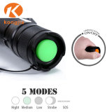 Contactor multifunção Xml Wysiwyp T6 Modos de LED 5 pilha AAA de emergência 10W Torch