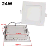 6W ahuecados cuadrado ultra delgado LED abajo se encienden