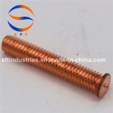 M5*25 revestimento de cobre de Aço Carbono (PT) do parafuso com rosca ISO13918