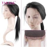 Frontal brasileño recto natural del cordón del pelo 360 de la Virgen del nuevo producto