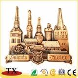 Imán de nevera de metal personalizados con Oro Cobre estañado.