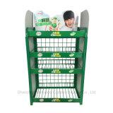 슈퍼마켓 철사 금속 요구르트 선반 우유 진열대