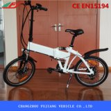 Bicicleta elétrica preta controlada fácil de Fodable com assento confortável