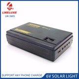 6V携帯電話の充満機能の太陽照明装置