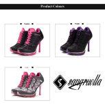 2017の新しいデザイン良質の流行の女性ハイヒールスポーツの靴