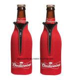 Trendy Koelere Zak van het Bier van de Ritssluiting van het Neopreen van het Ontwerp Koker Geïsoleerdee