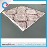 panneau de plafond 200mm plat de PVC de 250mm décorant le panneau de mur de PVC