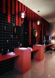 Schwarzes 8X8inch/20X20cm glasierte glatte keramische Wand-Untergrundbahn-Fliese-Badezimmer-/Küche-Dekoration