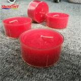 Rode Met de hand gemaakte Kaars Tealight door de Was van de Soja