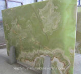 La pared interior de lujo decoración verde jade verde natural Onyx