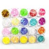 a multi cor 3G/Box misturou a decoração da arte do prego das partes do Glitter da arte do prego do Glitter