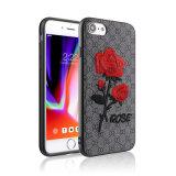 3D gestickter Blume PU-lederner Telefon-Kasten für Huawei Gehilfen 10