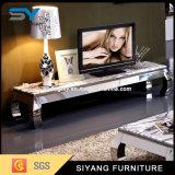 Soporte del MDF TV del vidrio del negro del diseño moderno
