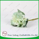 34cm Hydrangea Artificial flores de seda en tonos crema de color verde