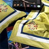 Weichen luxuriösen deluxer 4PCS gelben König Comforter Set