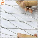 Cuerda flexible de acero inoxidable malla para el jardín o la construcción de la seguridad