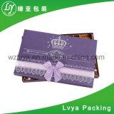 Rectángulo de empaquetado cosmético del papel del regalo del reloj de Jewellry del perfume de la cartulina