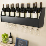 Estante tablero del vino del regalo de la visualización plegable con clase de madera sólida 5-Bottle