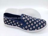 新しい方法女性のキャンバスの注入の偶然の平らな靴(FPY819-5)