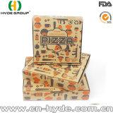 Aduana al por mayor del rectángulo de la pizza del cartón impresa/rectángulo de la pizza con insignia de encargo
