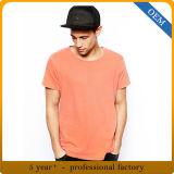 T-shirt orange ordinaire du coton 5% Lycra de 95% des hommes faits sur commande