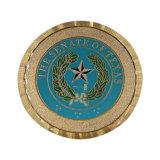 Doppia moneta di oro placcata rame antico delle monete del metallo dei lati